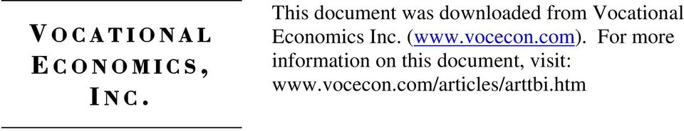 Economics Inc. (www.vocecon.com).