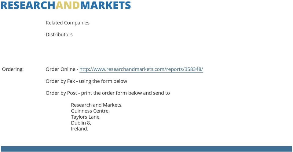 com/reports/358348/ Order by Fax - using the form below Order by