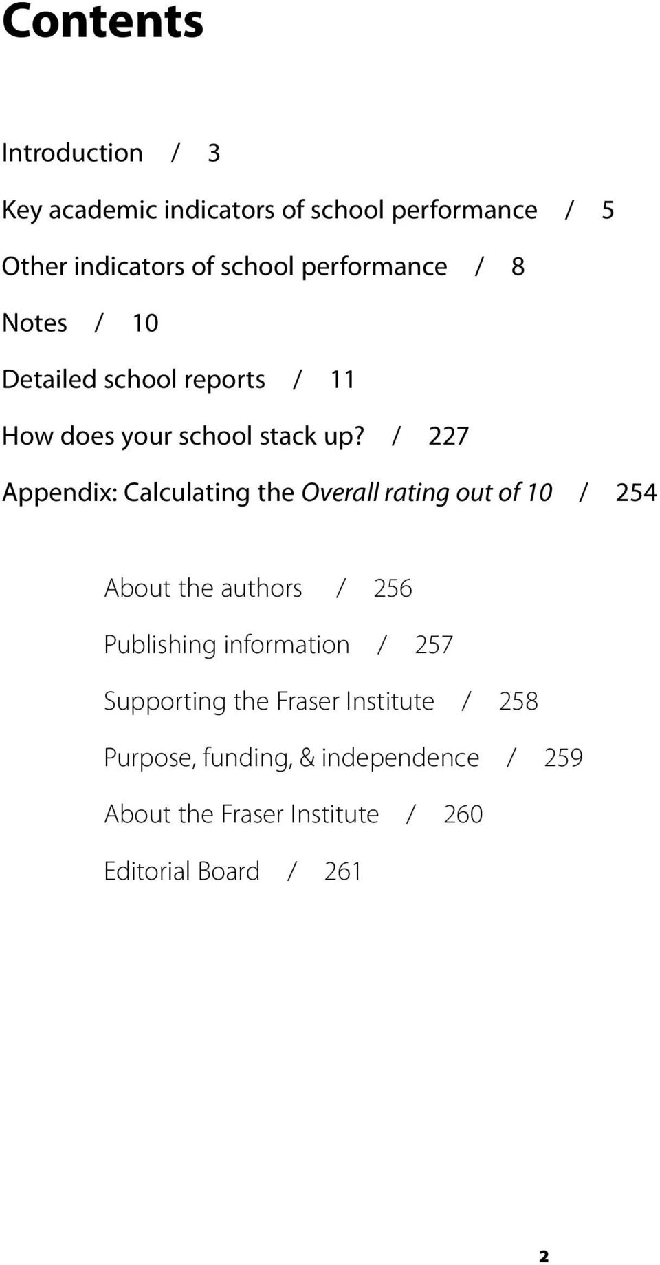/ 227 Appendix: Calculating the Overall rating out of 10 / 254 About the authors / 256 Publishing information