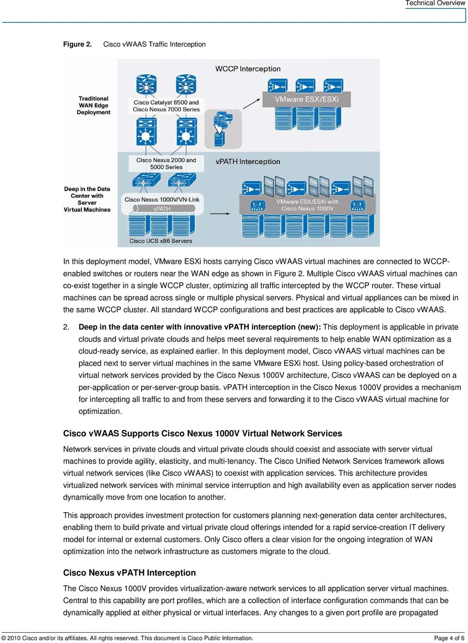 Multiple Cisco vwaas virtual machines can co-exist together in a single WCCP cluster, optimizing all traffic intercepted by the WCCP router.