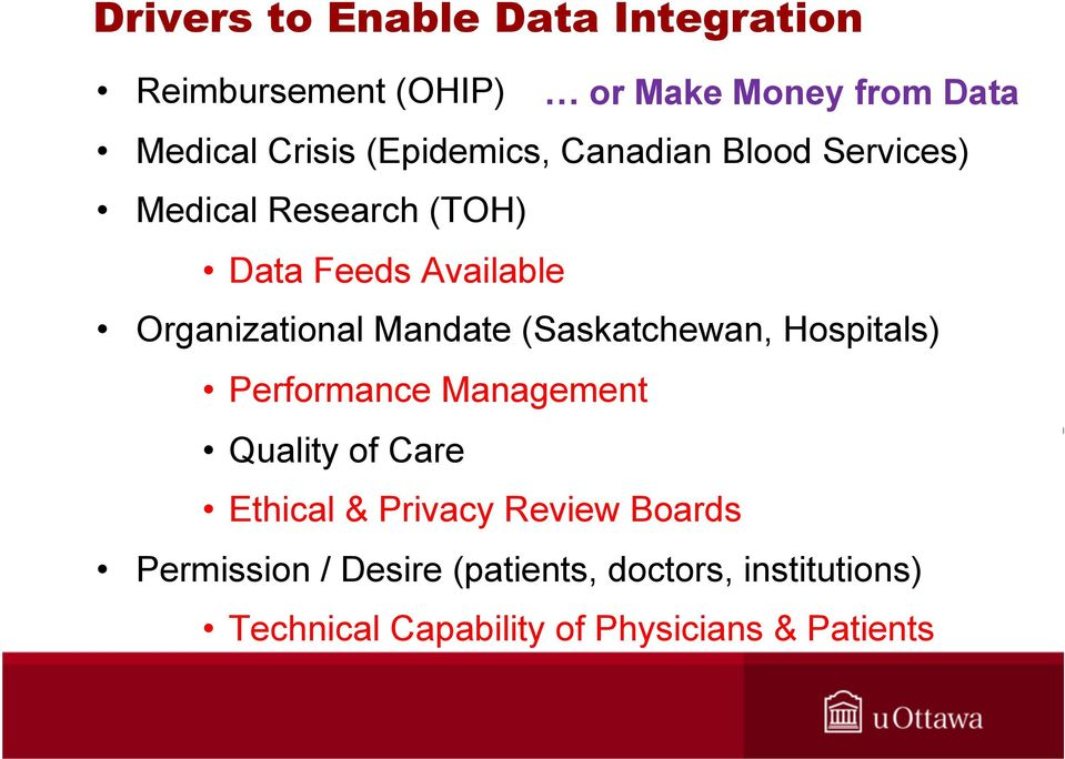 Mandate (Saskatchewan, Hospitals) Performance Management Quality of Care Ethical & Privacy Review