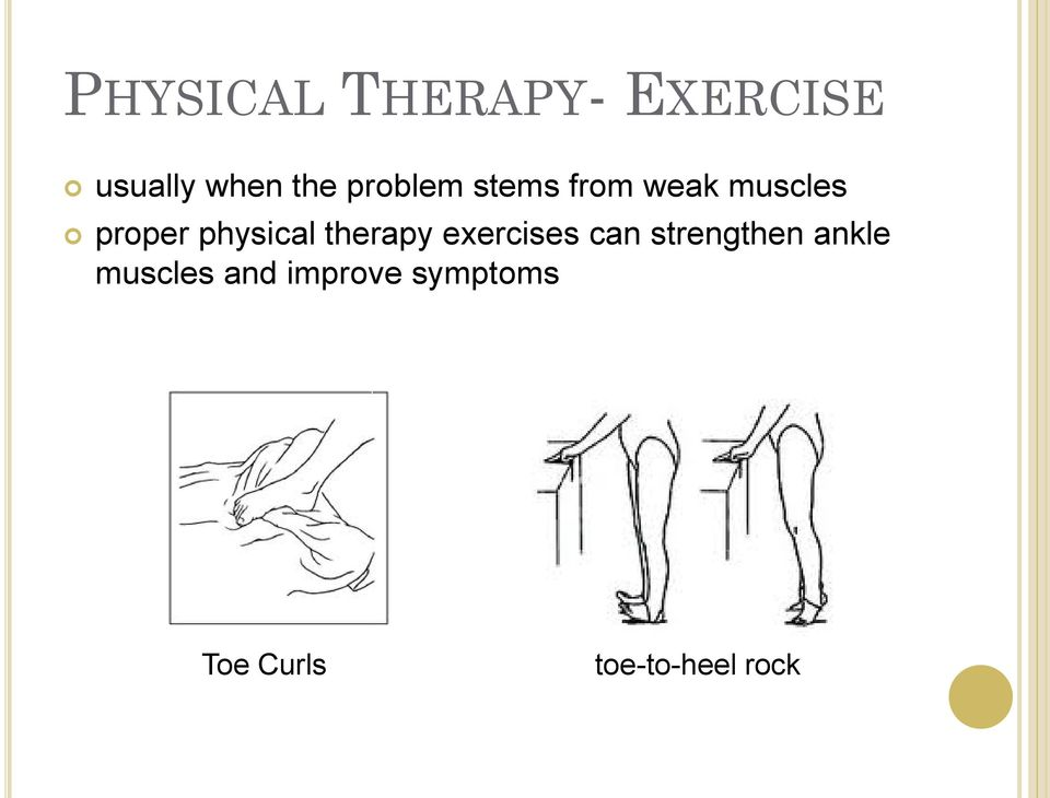 physical therapy exercises can strengthen