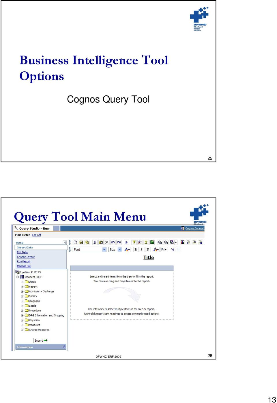 Query Tool 25 Query Tool