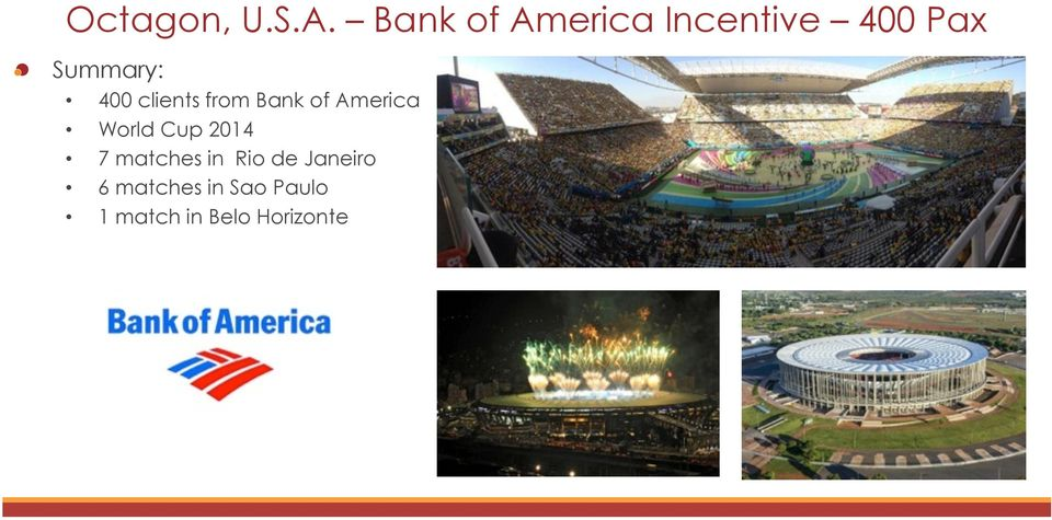 400 clients from Bank of America World Cup