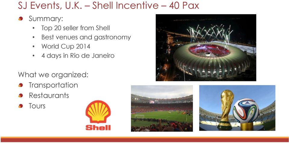 from Shell Best venues and gastronomy World Cup