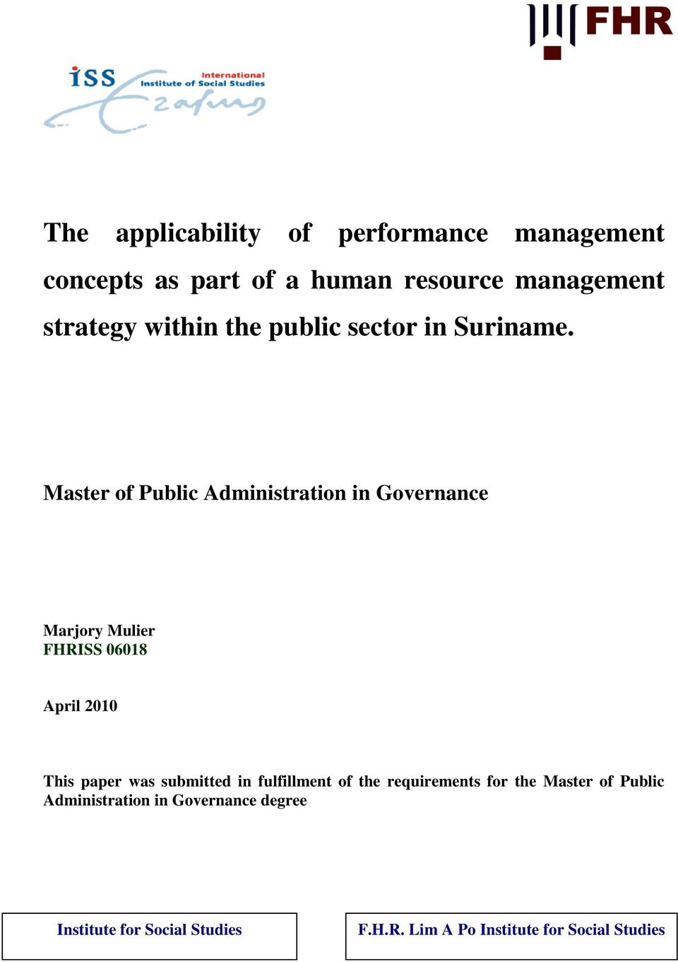 strategic management concepts in the public sector