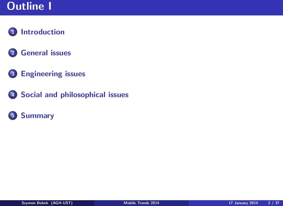 philosophical issues 5 Summary Szymon