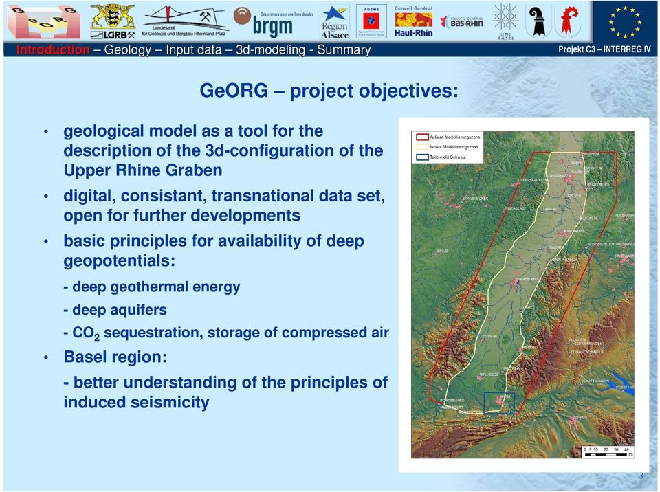 principles for availability of deep geopotentials: - deep geothermal energy - deep aquifers -CO 2