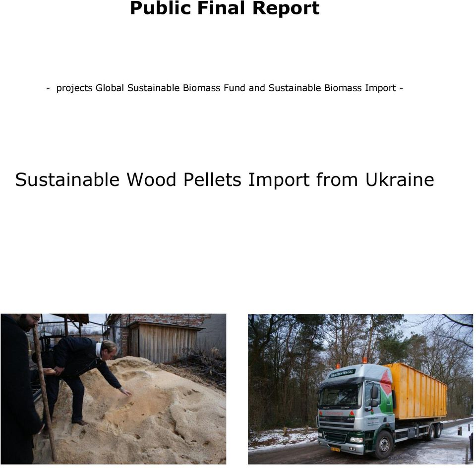 and Sustainable Biomass Import -