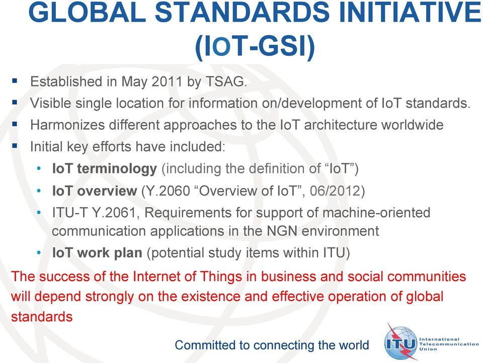 overview (Y.2060 Overview of IoT, 06/2012) ITU-T Y.