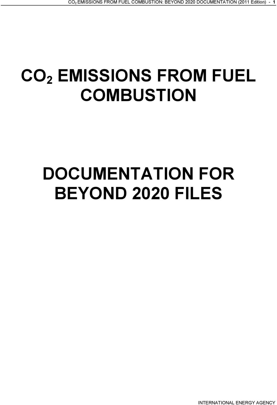 Edition) - 1 CO 2 EMISSIONS FROM FUEL