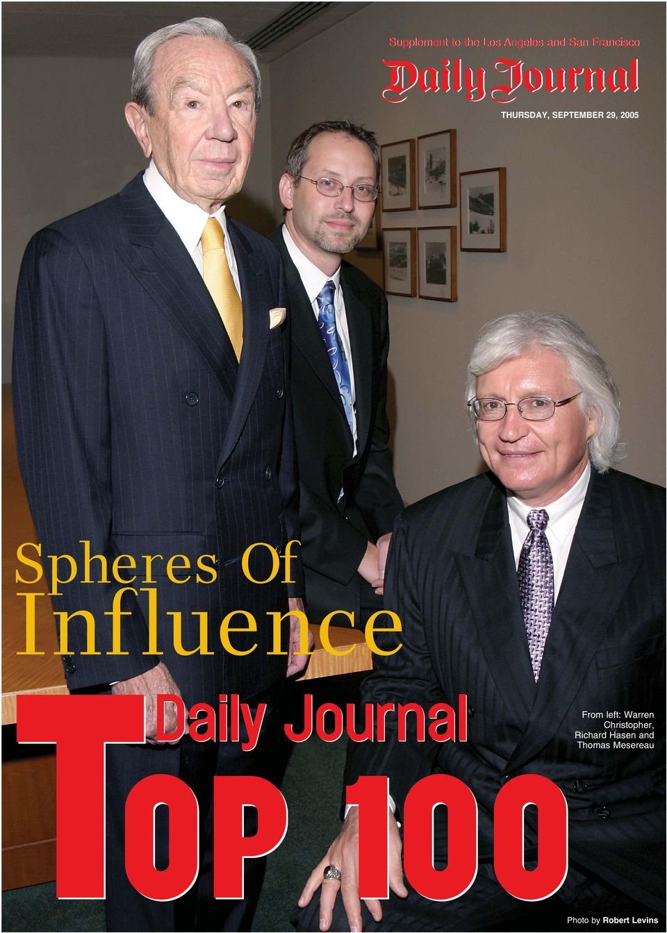 Daily Journal From left: Warren Christopher,