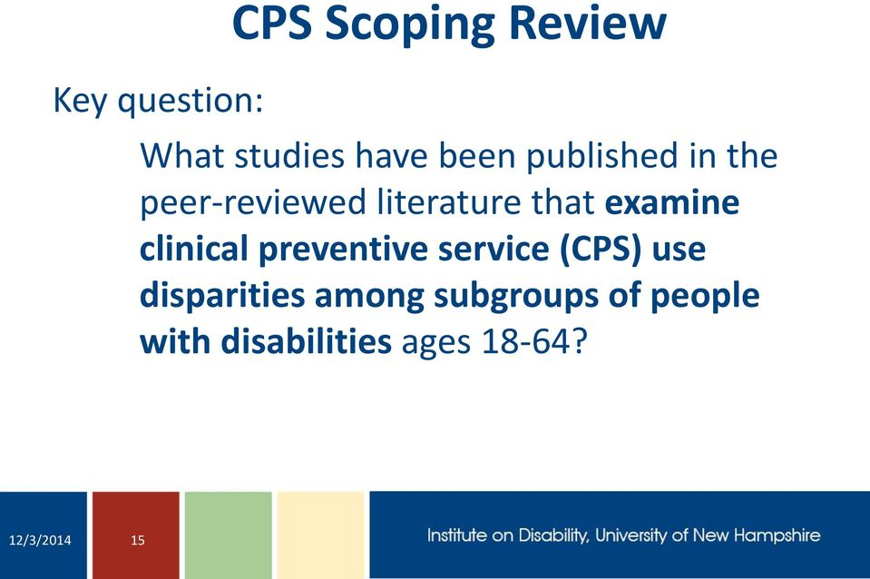 clinical preventive service (CPS) use disparities among