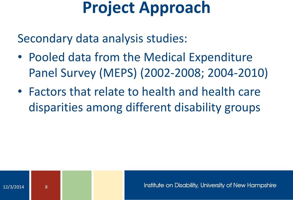 (2002-2008; 2004-2010) Factors that relate to health and