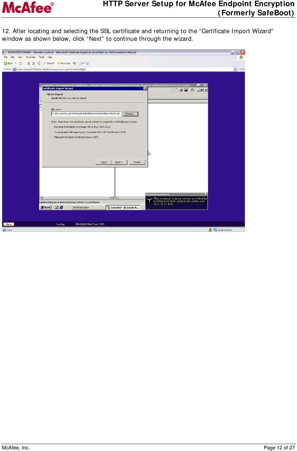 Import Wizard window as shown below, click Next