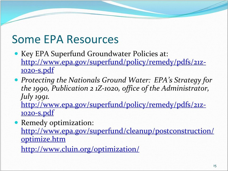 pdf Protecting the Nationals Ground Water: EPA s Strategy for the 1990, Publication 2 1Z 1020, office of the