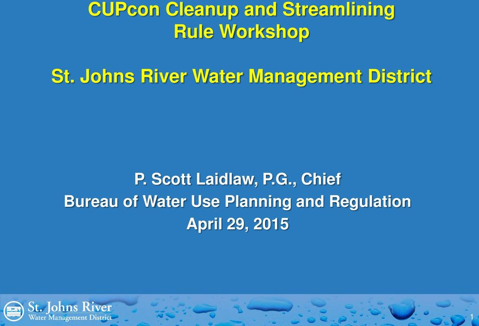 Johns River Water Management District P.