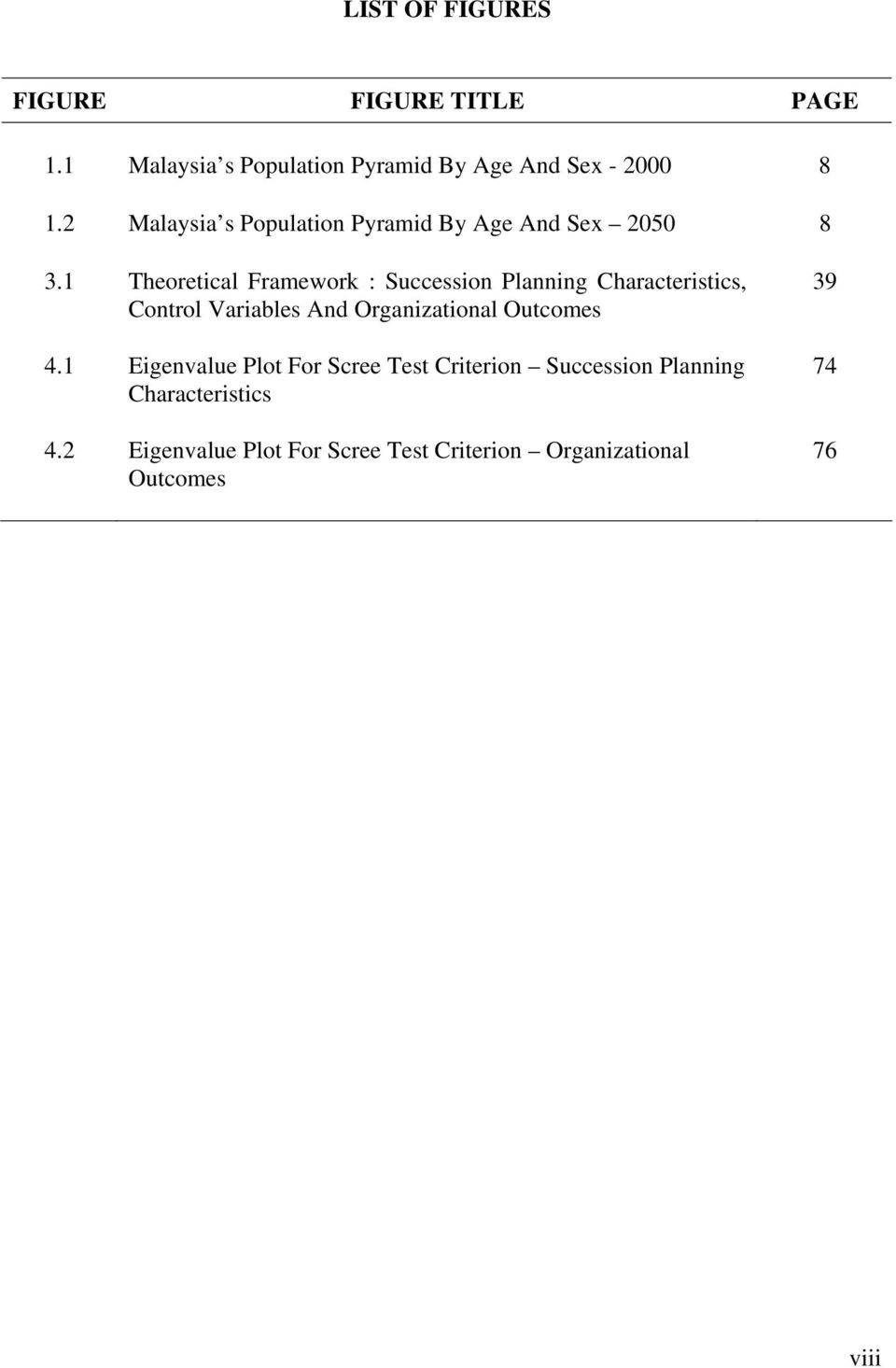 1 Theoretical Framework : Succession Planning Characteristics, Control Variables And Organizational