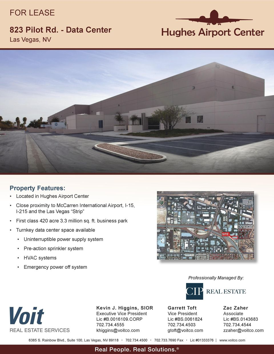 business park Turnkey data center space available Uninterruptible power supply system Pre-action sprinkler system