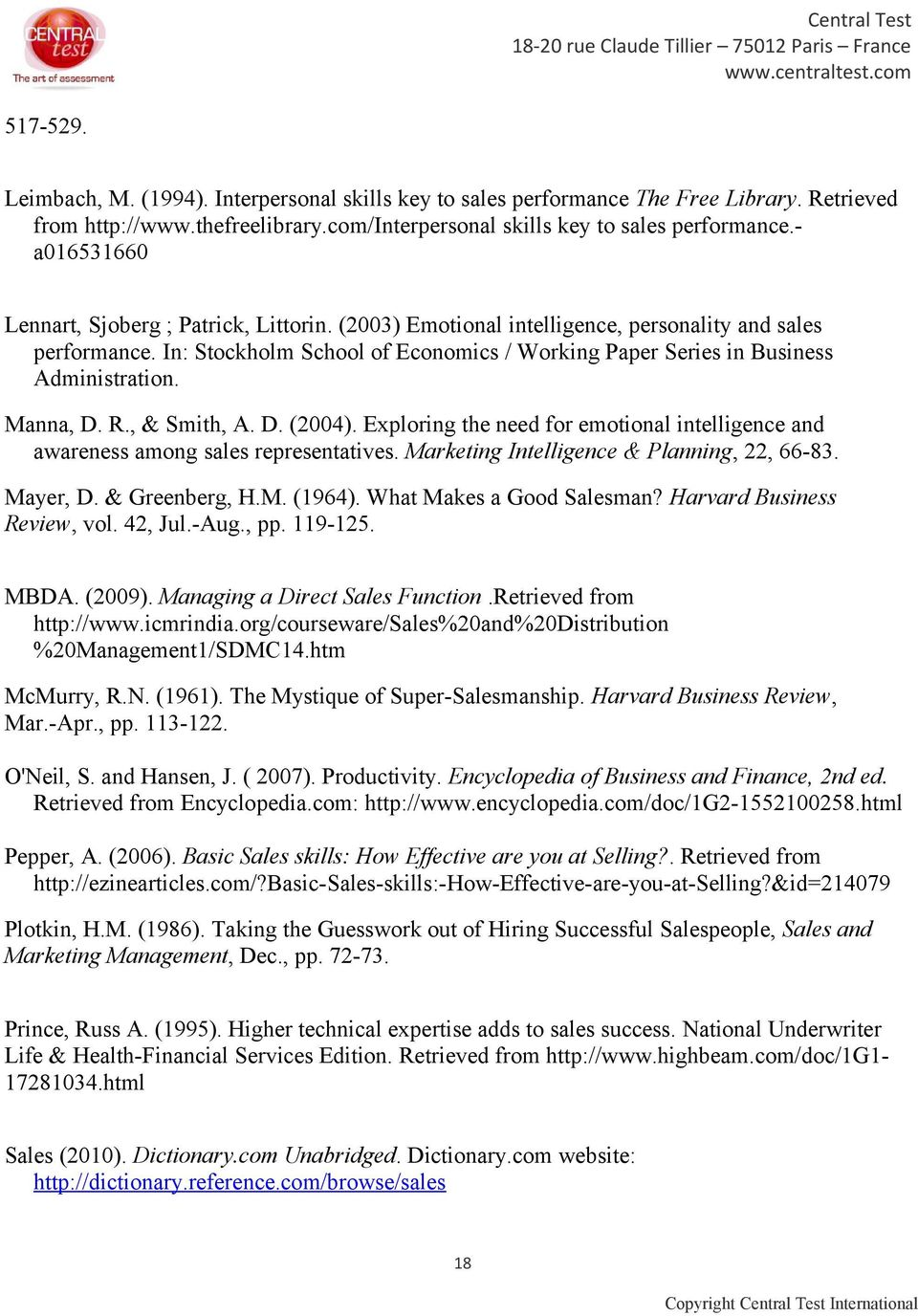 In: Stockholm School of Economics / Working Paper Series in Business Administration. Manna, D. R., & Smith, A. D. (2004).
