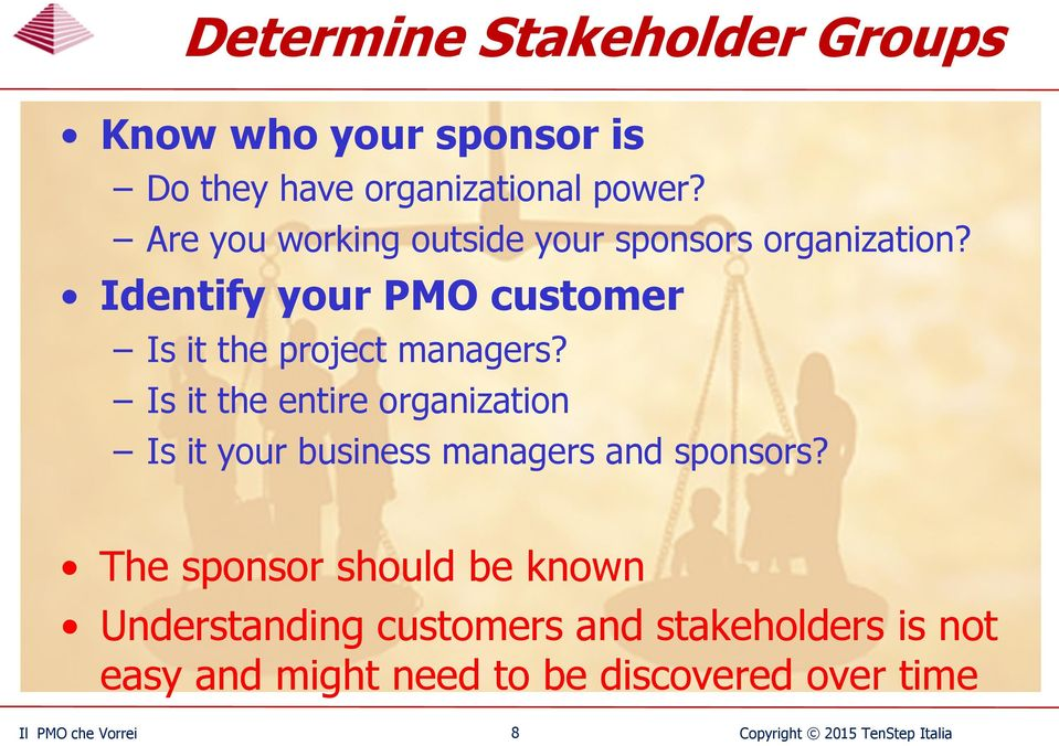 Is it the entire organization Is it your business managers and sponsors?