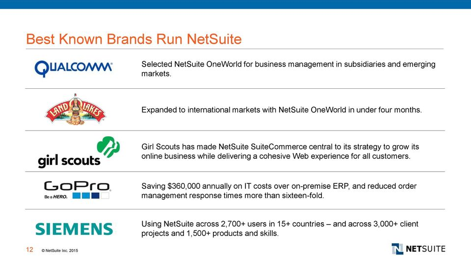 Girl Scouts has made NetSuite SuiteCommerce central to its strategy to grow its online business while delivering a cohesive Web experience for all