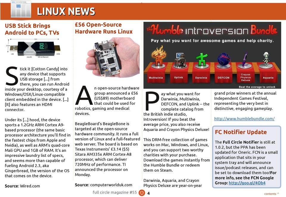 56 Open-Source Hardware Runs Linux A n open-source hardware group announced a 56 (US$89) motherboard that could be used for robotics, gaming and medical devices. Under its [.