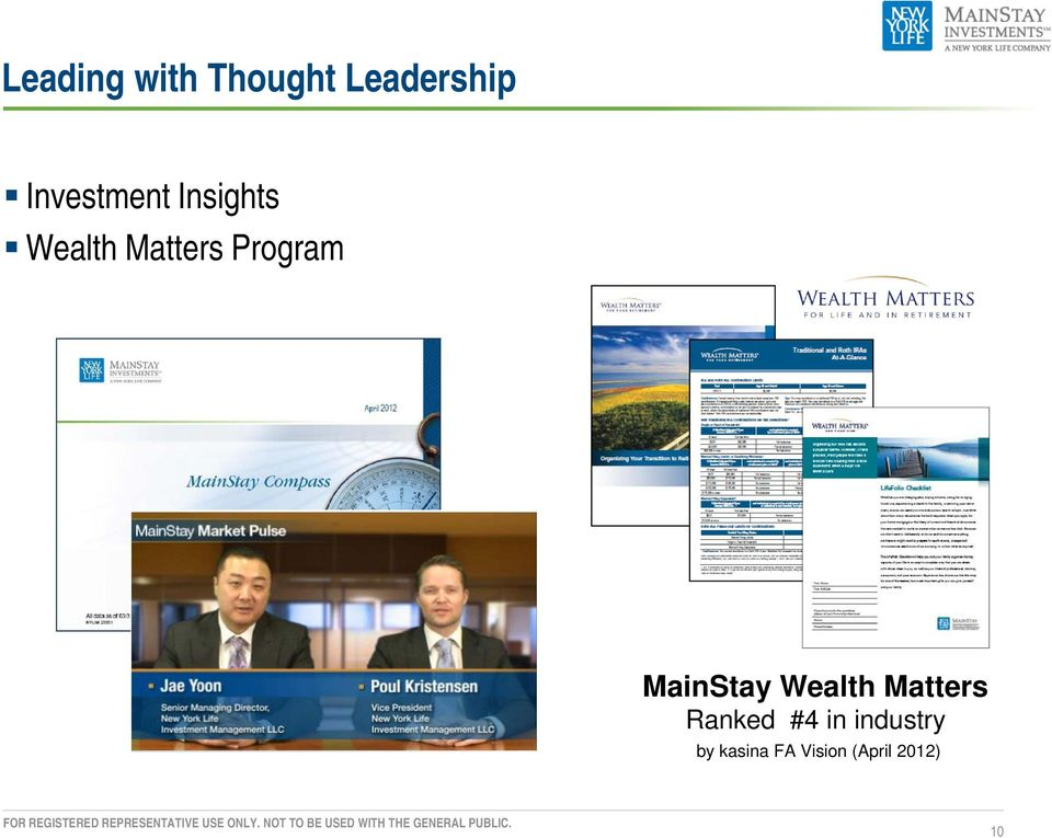 Program MainStay Wealth Matters Ranked