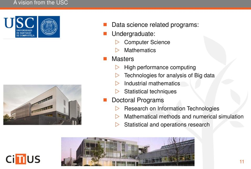Industrial mathematics Statistical techniques Doctoral Programs Research on Information