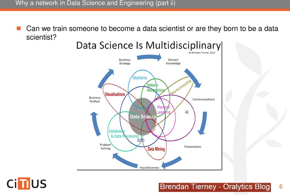 someone to become a data scientist