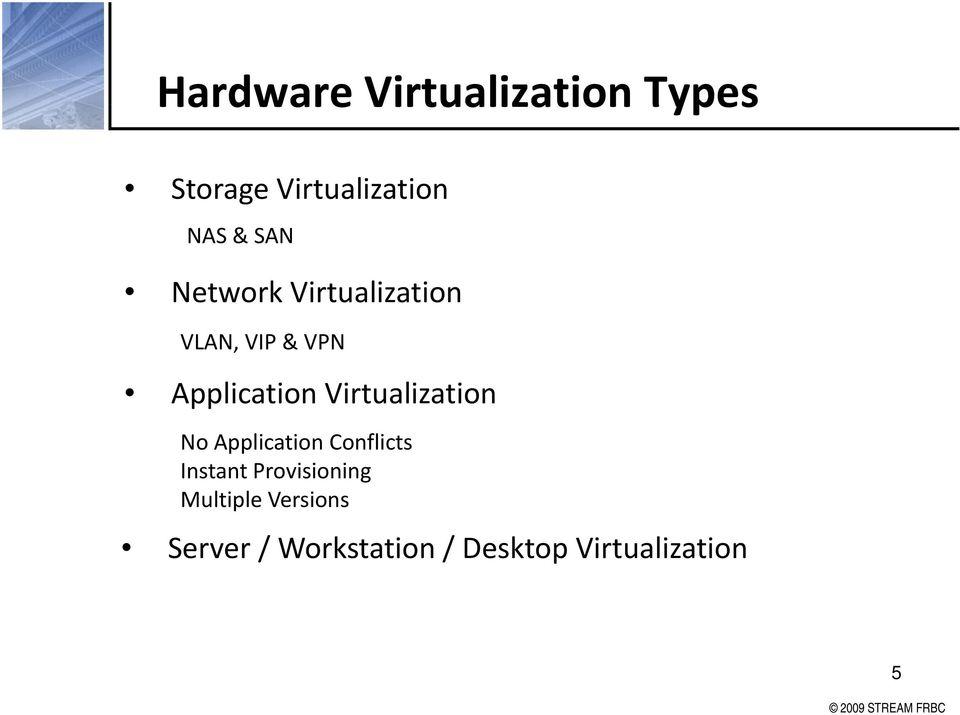 Virtualization No Application Conflicts Instant