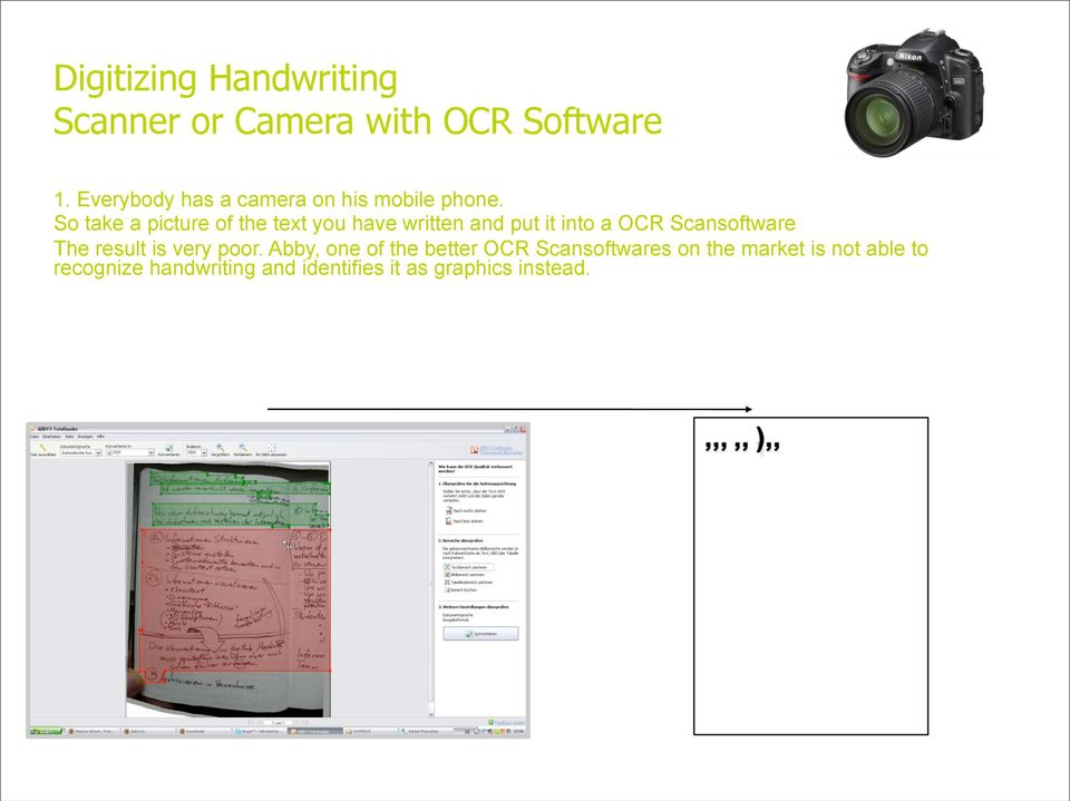 So take a picture of the text you have written and put it into a OCR Scansoftware The