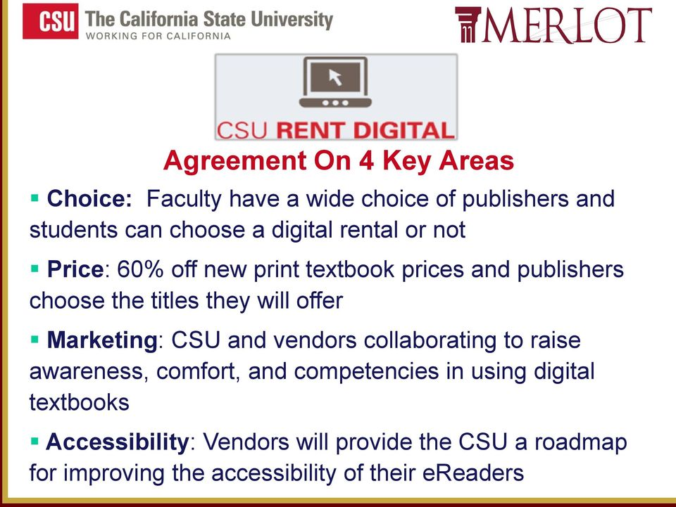 Marketing: CSU and vendors collaborating to raise awareness, comfort, and competencies in using digital