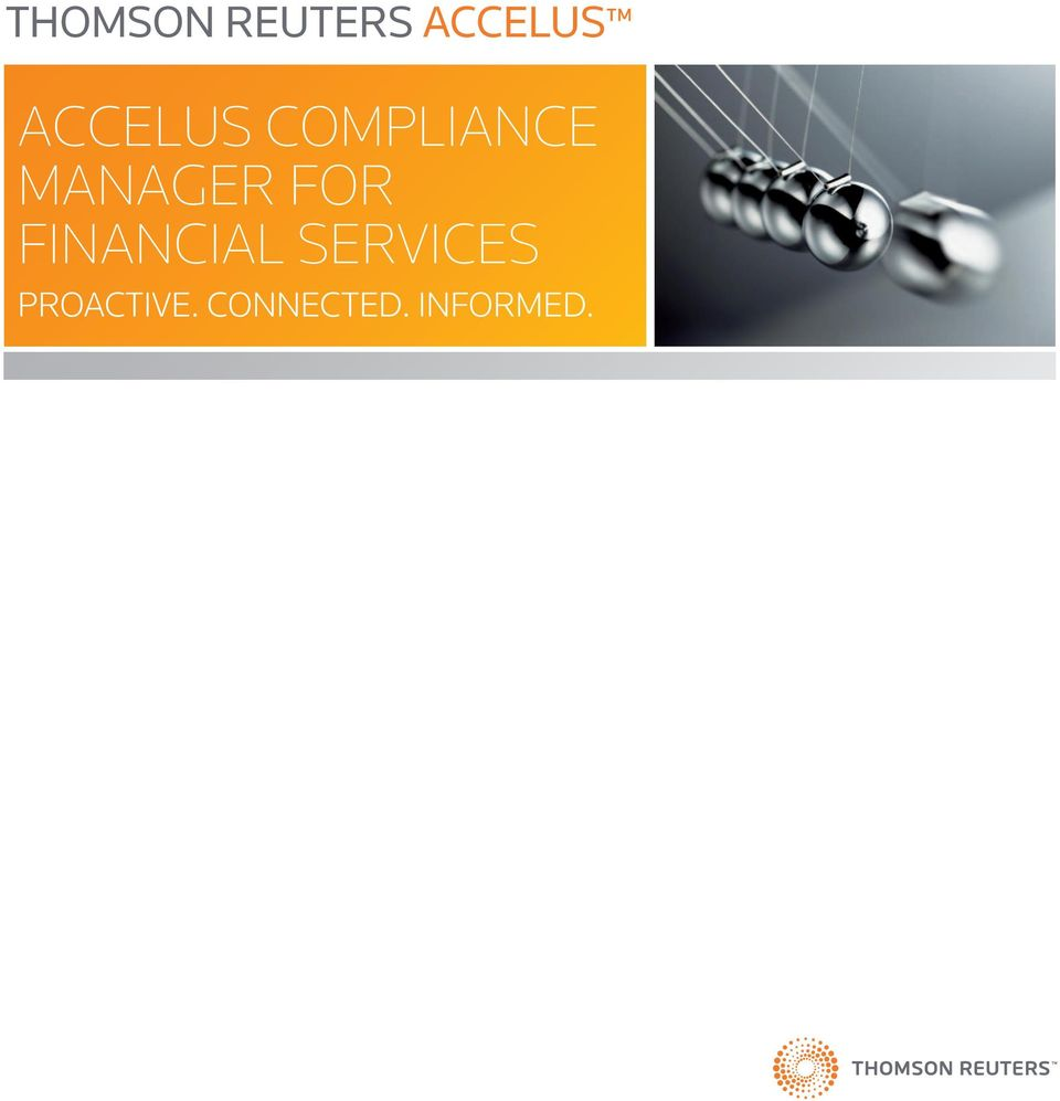 FOR FINANCIAL SERVICES