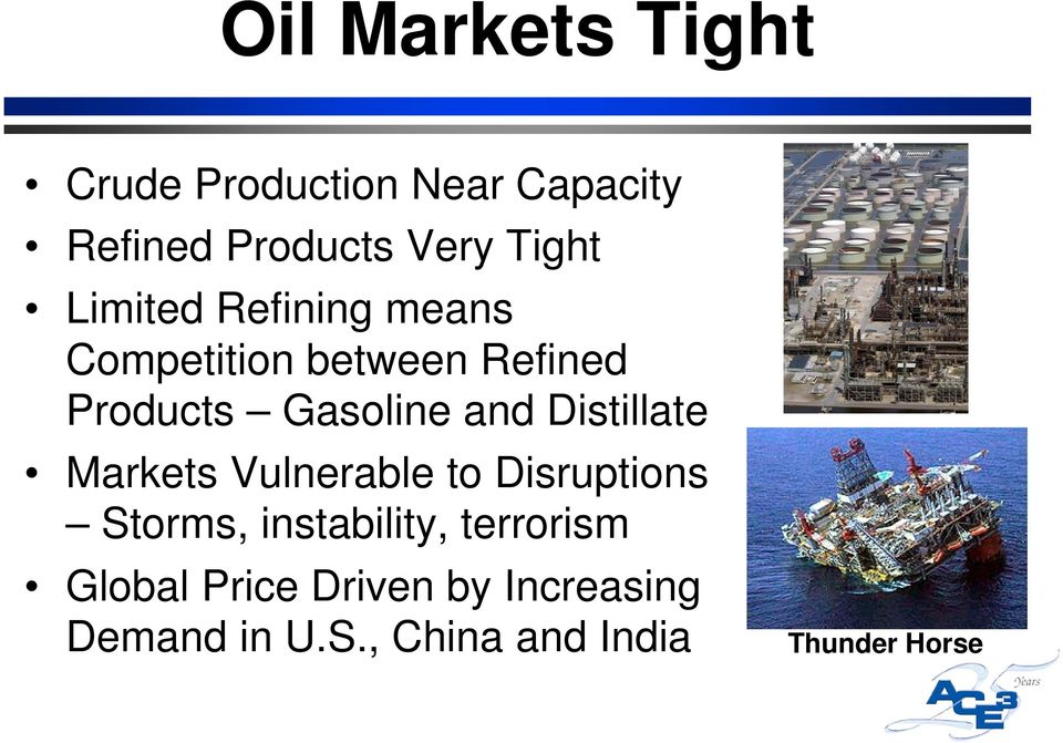 Distillate Markets Vulnerable to Disruptions Storms, instability, terrorism