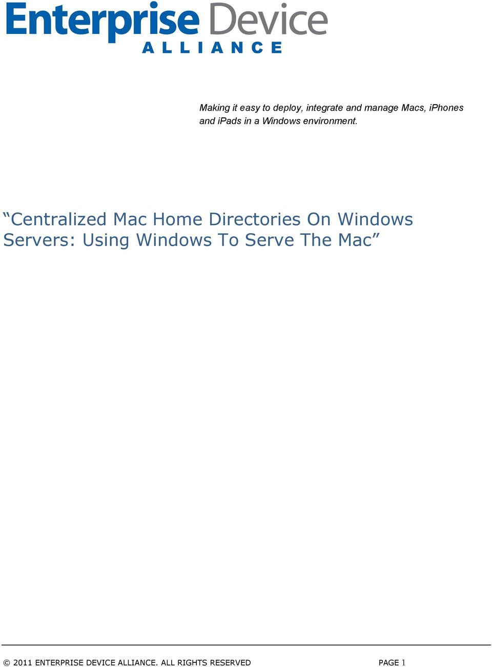 Centralized Mac Home Directories On Windows Servers: Using
