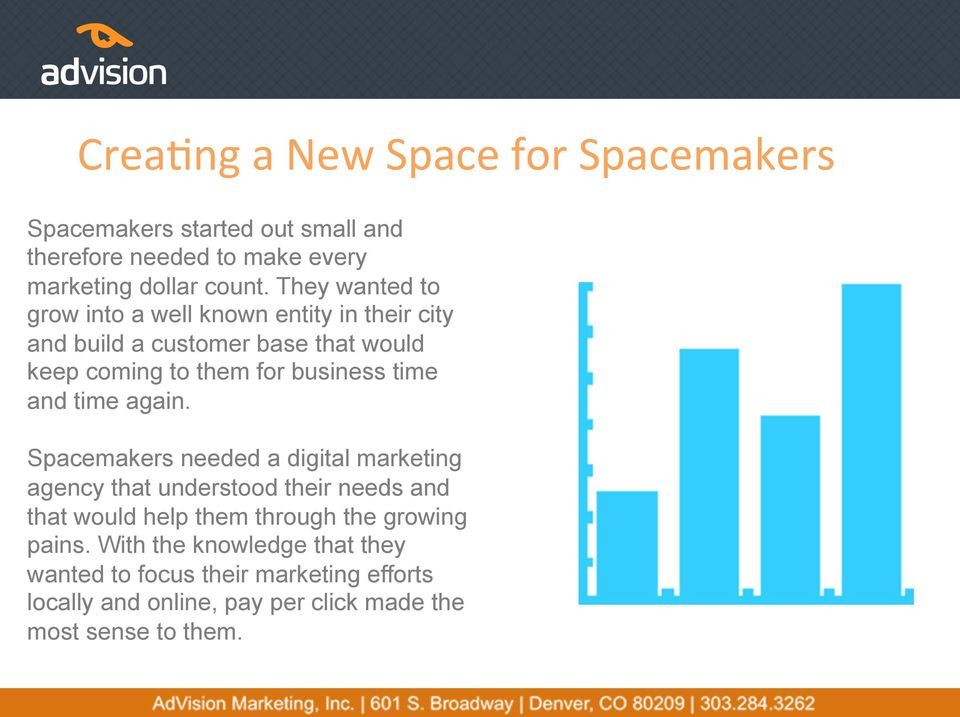 Spacemakers needed a digital marketing agency that understood their needs and that would help them through the growing pains.