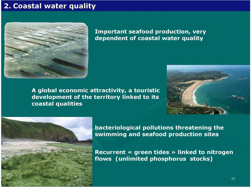 its coastal qualities bacteriological pollutions threatening the swimming and seafood
