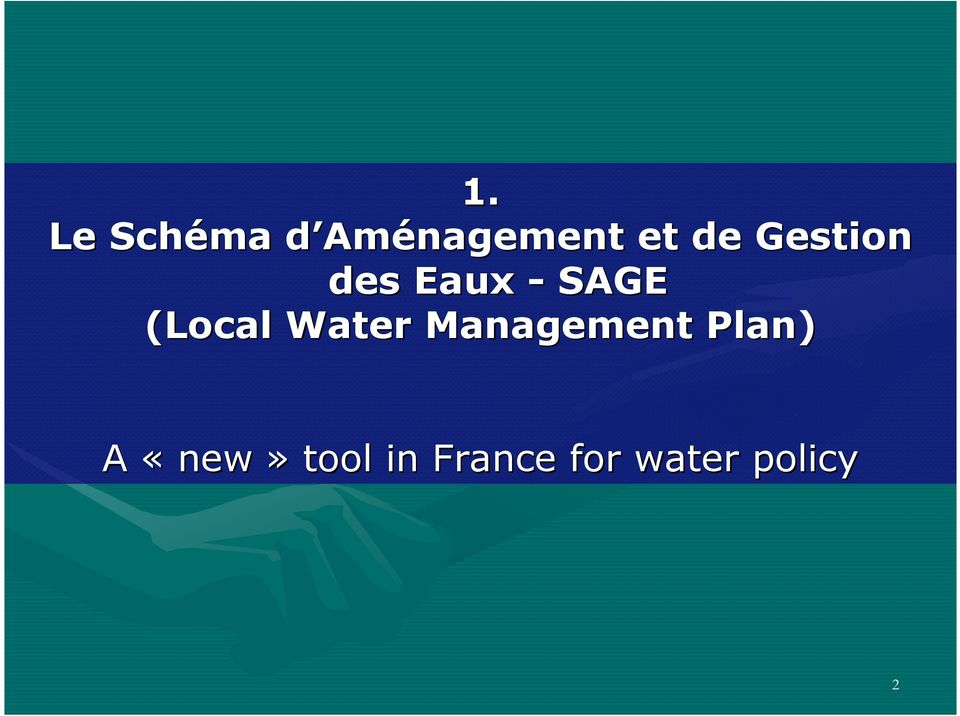 (Local Water Management Plan) A
