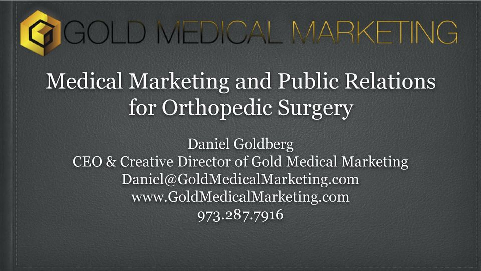 Director of Gold Medical Marketing