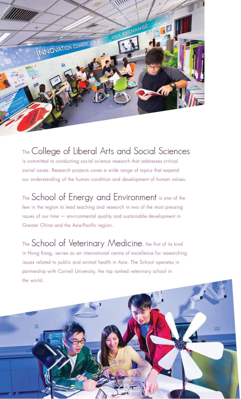 The School of Energy and Environment is one of the few in the region to lead teaching and research in two of the most pressing issues of our time environmental quality and sustainable development in