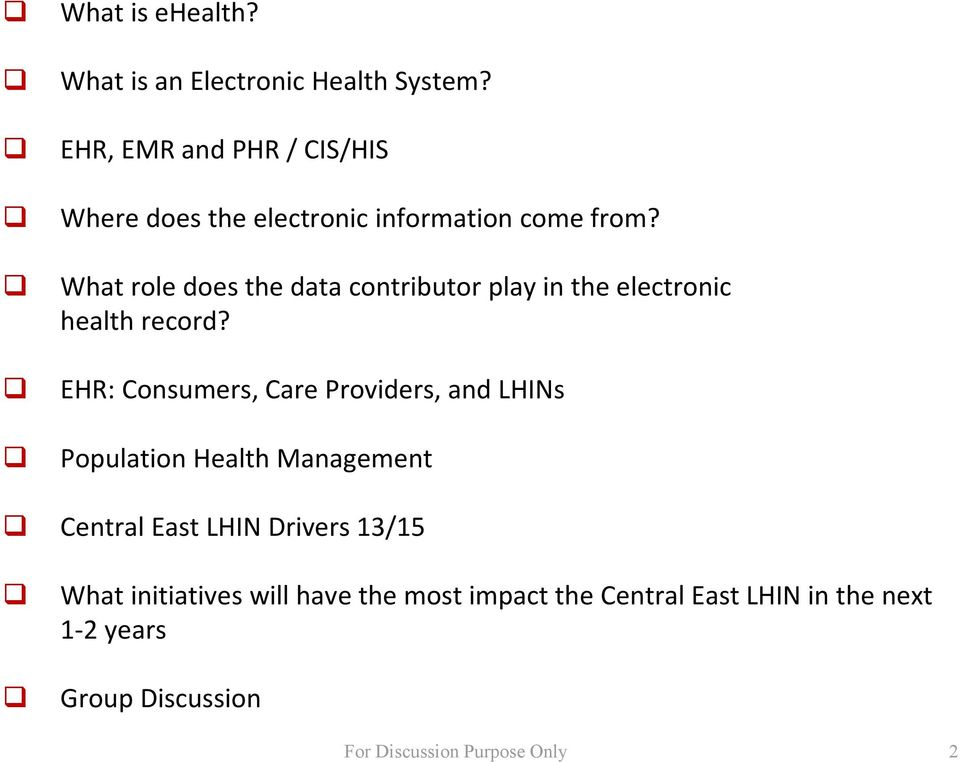 What role does the data contributor play in the electronic health record?
