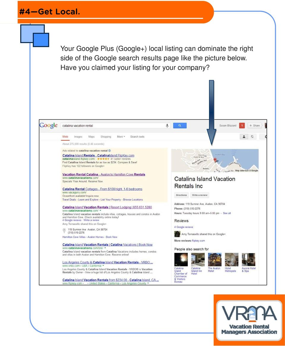 dominate the right side of the Google search