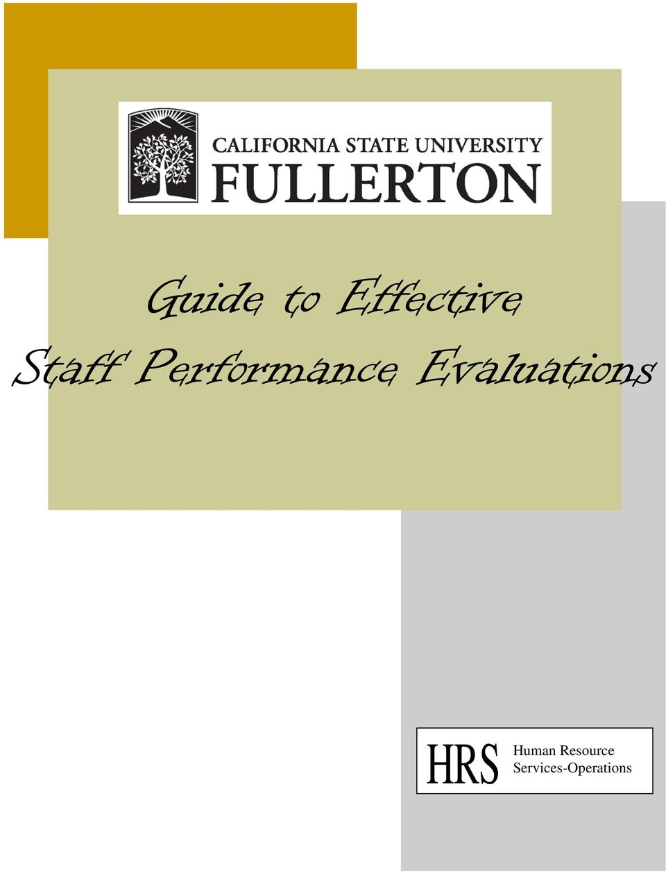Evaluations HRS Human