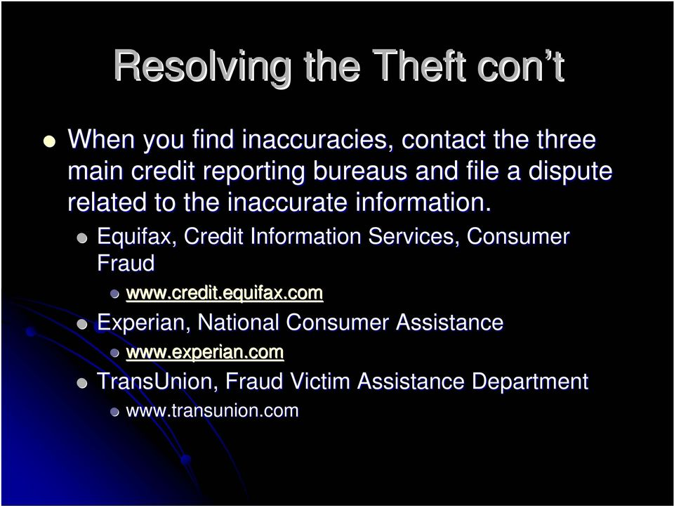 Equifax, Credit Information Services, Consumer Fraud www.credit.equifax.