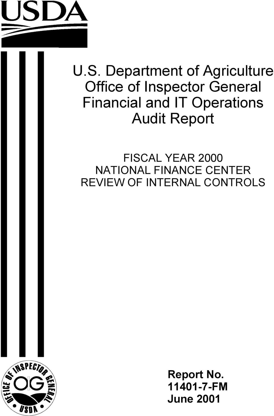 FISCAL YEAR 2000 NATIONAL FINANCE CENTER REVIEW OF