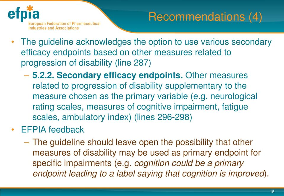 ession of disability supplementary to the measure chosen as the primary variable (e.g.