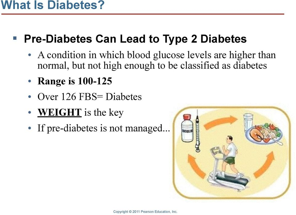 blood glucose levels are higher than normal, but not high enough