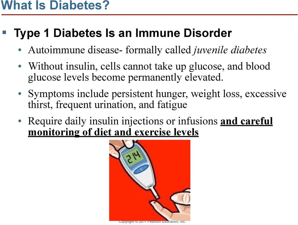 insulin, cells cannot take up glucose, and blood glucose levels become permanently elevated.