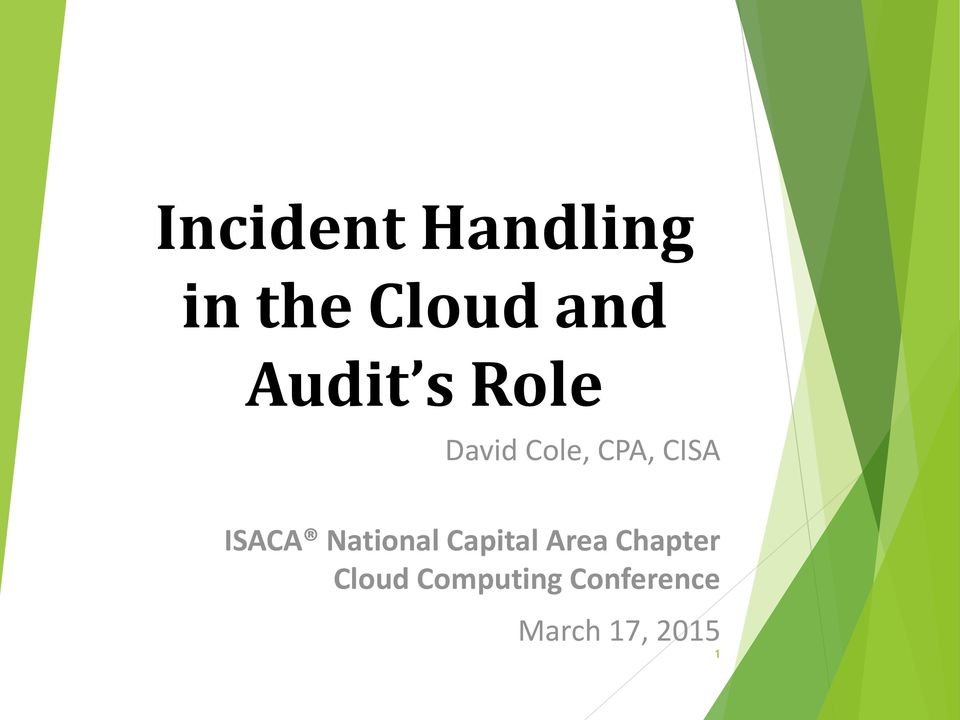 ISACA National Capital Area Chapter